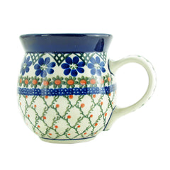 Polish Pottery 16 oz Handmade Bubble Mug Traditional Pattern 073-854, Mugs, Great2bHome