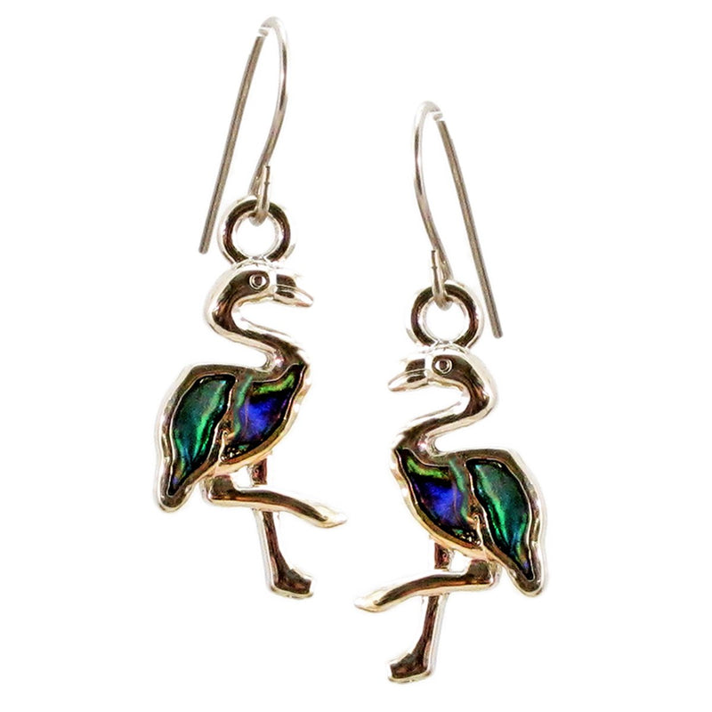 Storrs Wild Pearle  Abalone Shell Post Earrings Flamingo