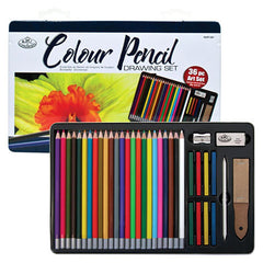 Royal & Langnickel Colour Pencil Drawing Set - 36 Pieces