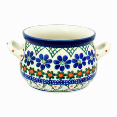 Polish Pottery CA 10 oz. Soup Chili Dip Bowl w Handles - 854X