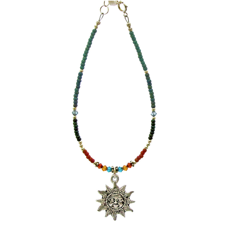 "O.L. Handmade Fine Casual Jewelry 18"" Beaded - Smiling Sun Collection"