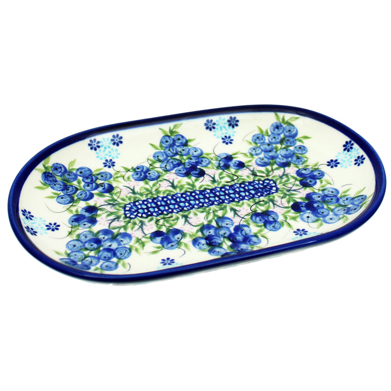 "Polish Pottery 9"" Unikat Oval Serving Platter  - U288"