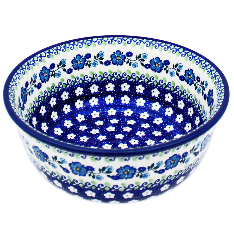 "Polish Pottery CA 8"" Classic Serving Bowl Mixing Bowl - 211-Spring Medley"