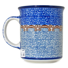 Polish Pottery Handmade 8oz Casual Mug 236-Ocean Blue