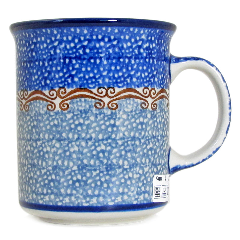 Polish Pottery 10 Ounce Casual Handmade Mug