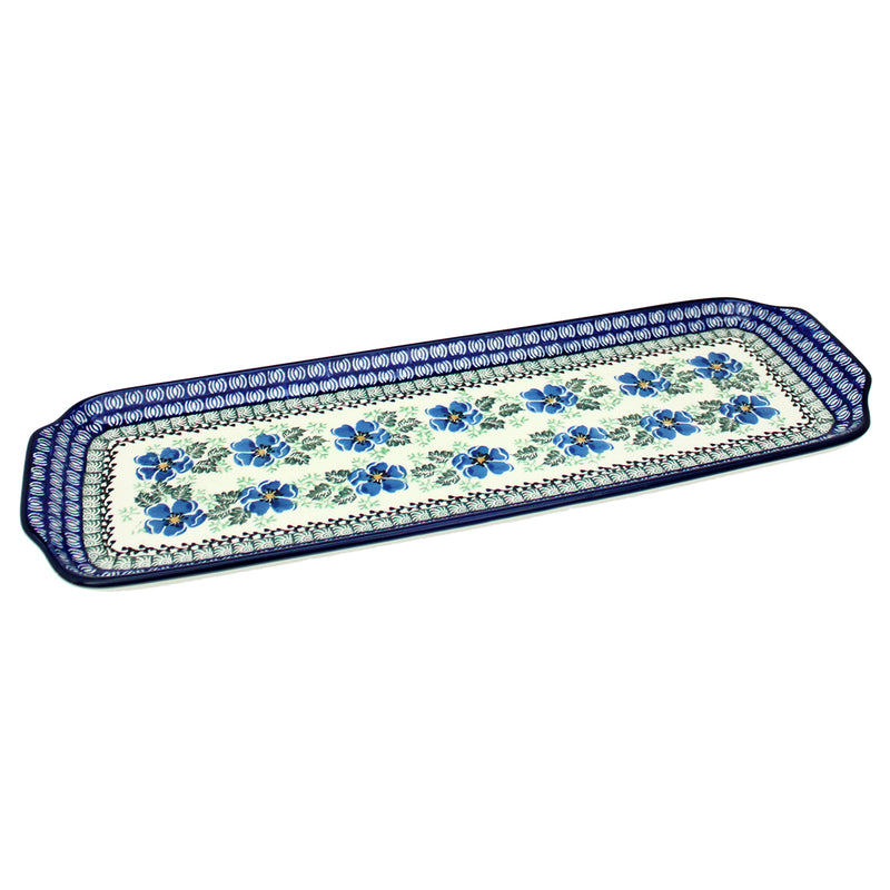 "Polish Pottery CA 16"" Extra Long Serving Tray - 1915X"