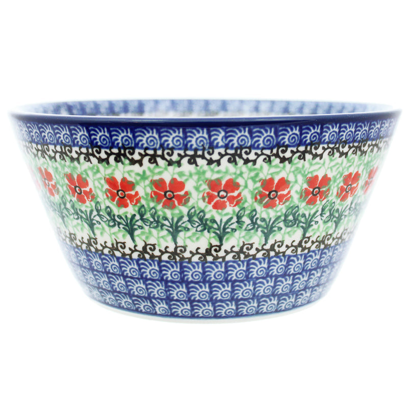 "Polish Pottery CA 6.75"" Angled Bowl - 1916X"