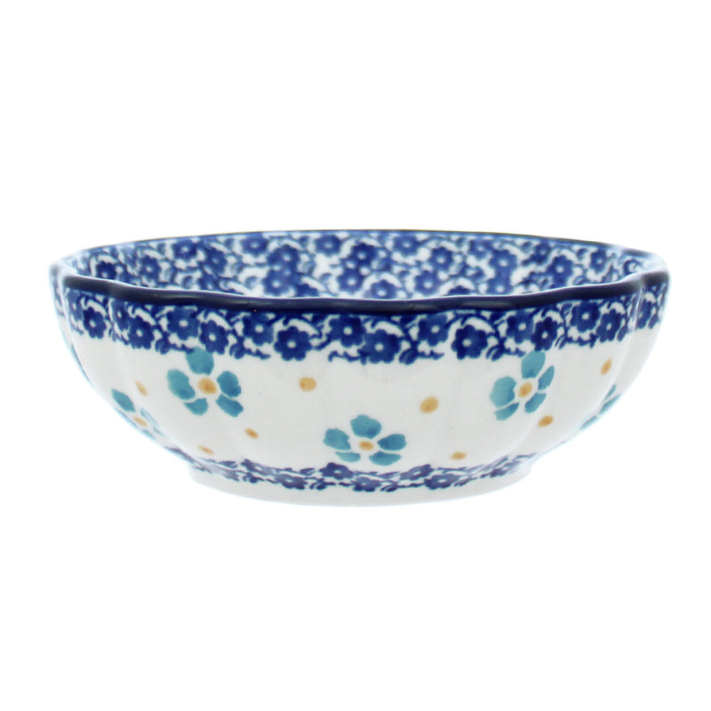 "Polish Pottery CA 4.5"" Fluted Dessert Dish - 2276X"