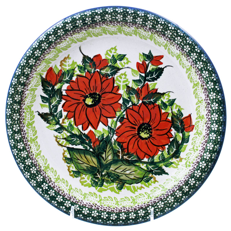 "Polish Pottery 10.25"" Dinner Plate Exclusive Signature Series - E422"