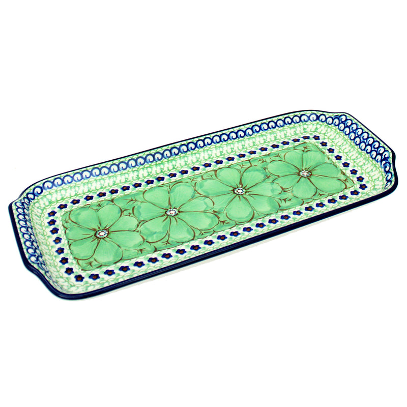 "Polish Pottery CA Unikat 12.5"" Long Serving Tray - U408D"