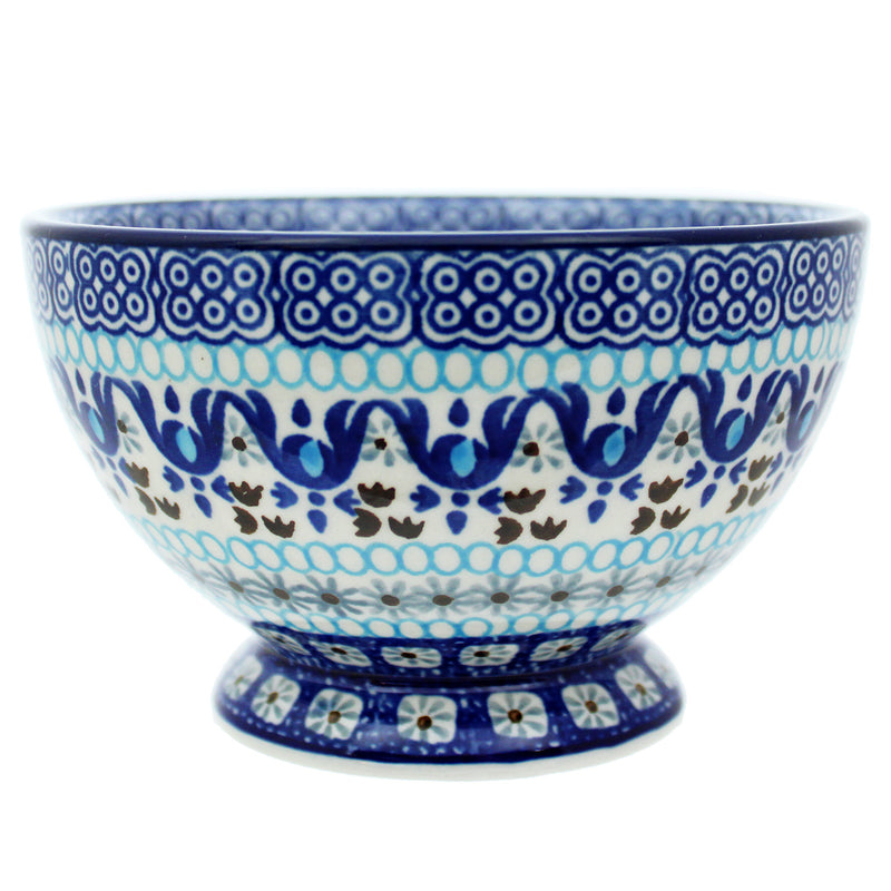 "Polish Pottery CA 5.5"" Pedestal Rice Bowl - 1026X"