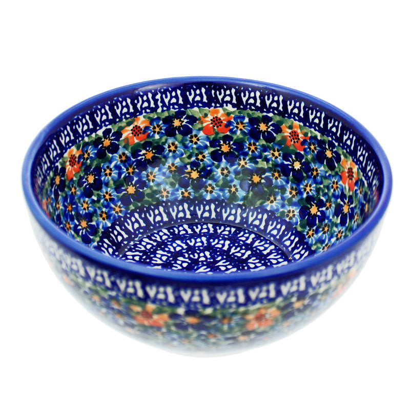 "Polish Pottery Dalia 6.75"" Cereal/Serving Bowl - U232"