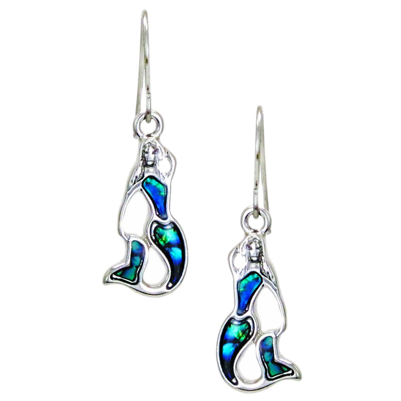 Storrs Wild Pearle  Abalone Shell Dangle Earrings Mermaids