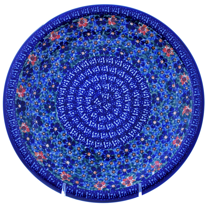 "Polish Pottery 10.25"" Dinner Plate Unikat - U232"