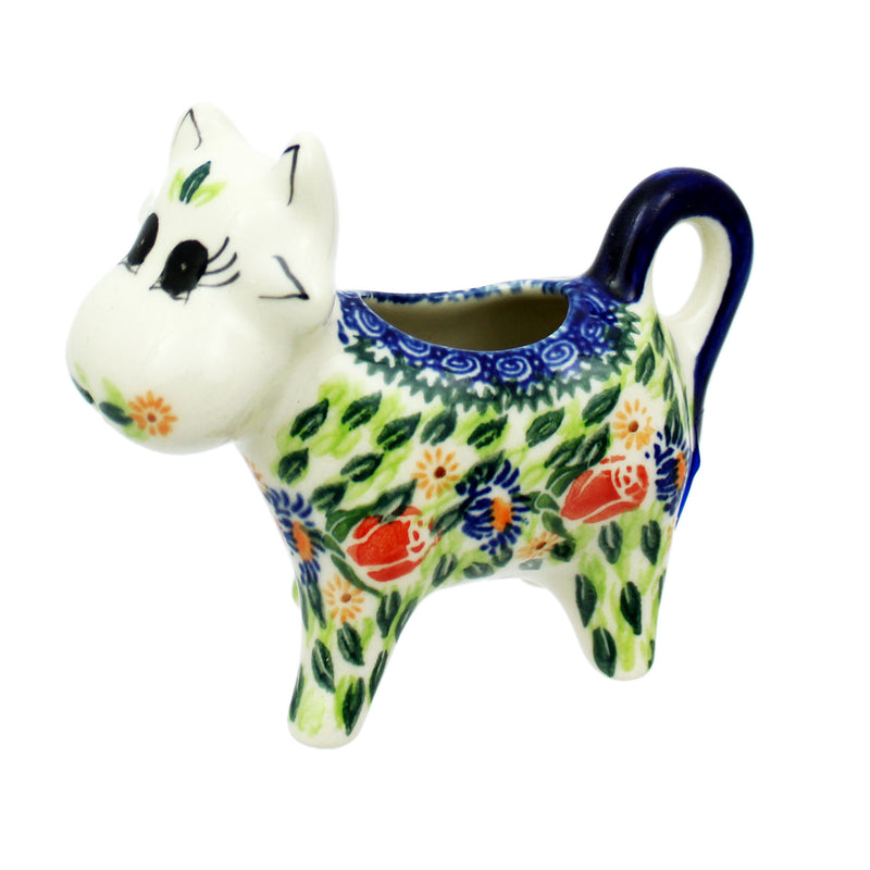 "Polish Pottery 4"" Cow Creamer - 05"