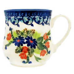 Polish Pottery 12 oz Curved Mug Unikat - U224