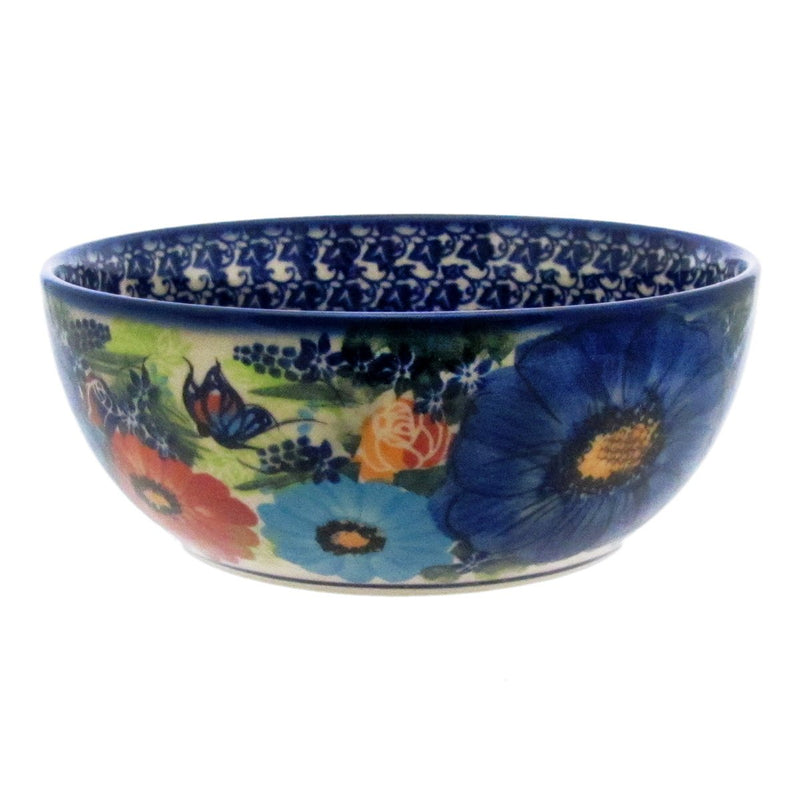 "Polish Pottery 7"" Serving Bowl Exclusive Artistic Unikat - E404"