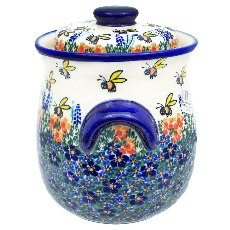 Polish Pottery 3 Quart Tall Canister - U273