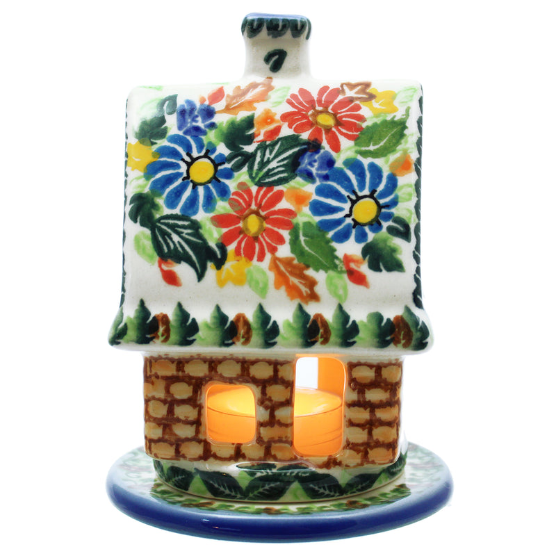 "Polish Pottery 5.5"" Cottage Candle Holder (4 Pattern choices)"