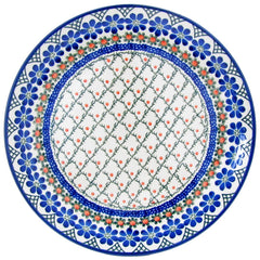 Polish Pottery  10'' Dinner Plate 257- Vintage Trellis
