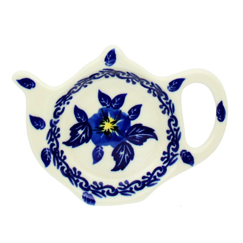 "Polish Pottery Dalia 4.5"" Teapot Teabag Holder - T201"