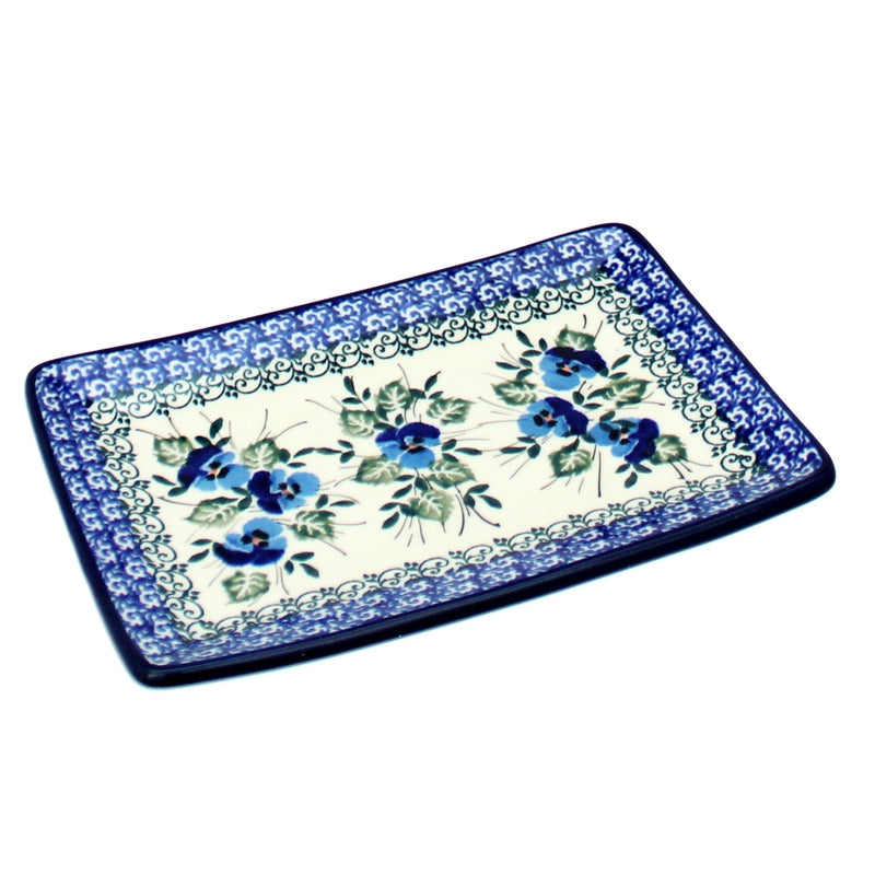 "Polish Pottery CA 7"" Flared Serving Tray Dish - 2273X"