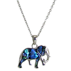 Storrs Wild Pearle  Abalone Shell Elephant Necklace