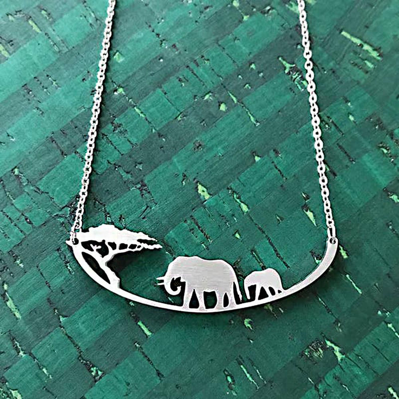 "Close2URHeart Stainless Steel 18"" Necklace - Elephant"