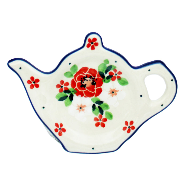 "Polish Pottery CA 4.5"" Teapot Teabag Holder - 2352X"