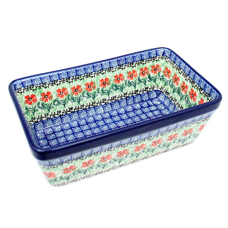 "Polish Pottery CA 8"" Classic Loaf Pan Baker - 1916X"