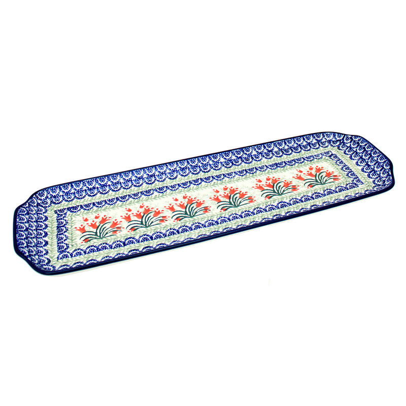 "Polish Pottery CA 16"" Extra Long Serving Tray - 1437X"