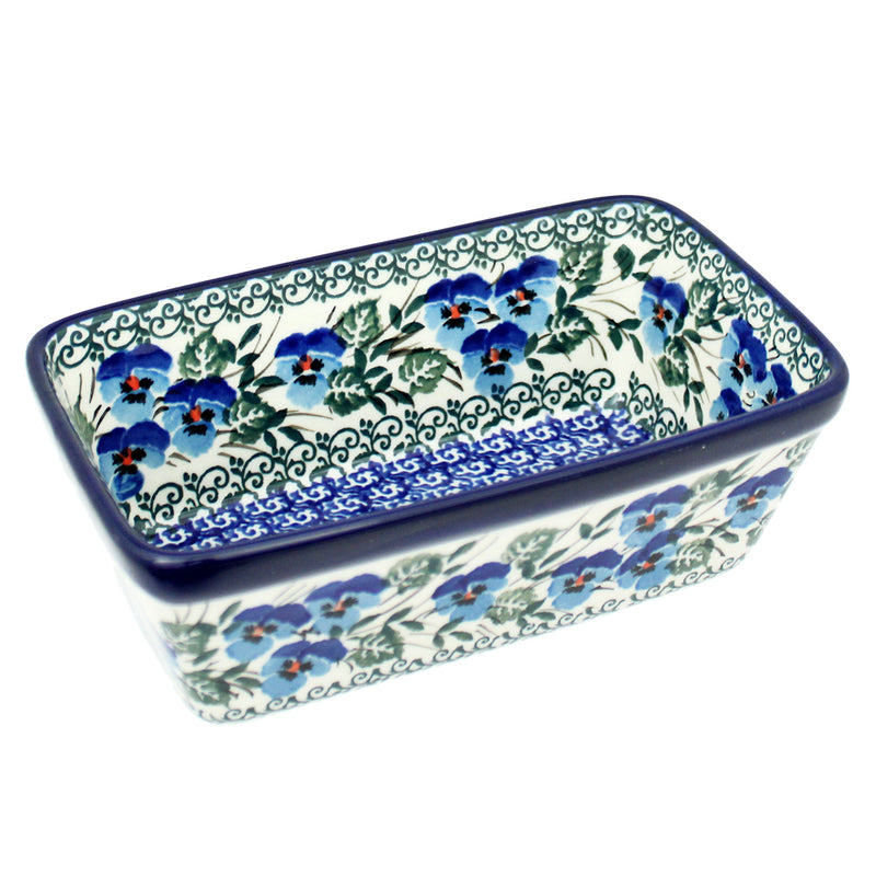 "Polish Pottery CA 6.25"" Mini Loaf Pan Baker - 2273X"