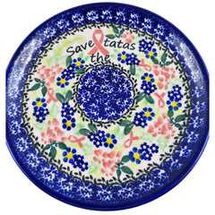 Polish Pottery Exclusive Breast Cancer Ribbon Pattern 7