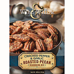 Wind & Willow 3 oz. Roasted Pecan Seasoning Mix - Cracked Pepper & Garlic