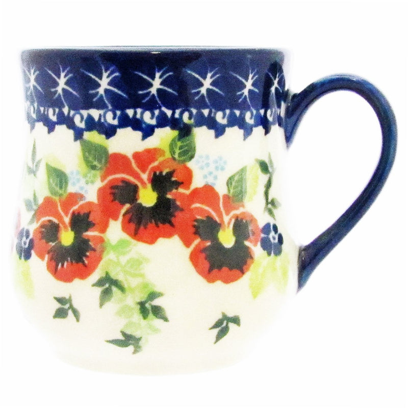 Polish Pottery 12 oz Curved Mug Unikat - U211