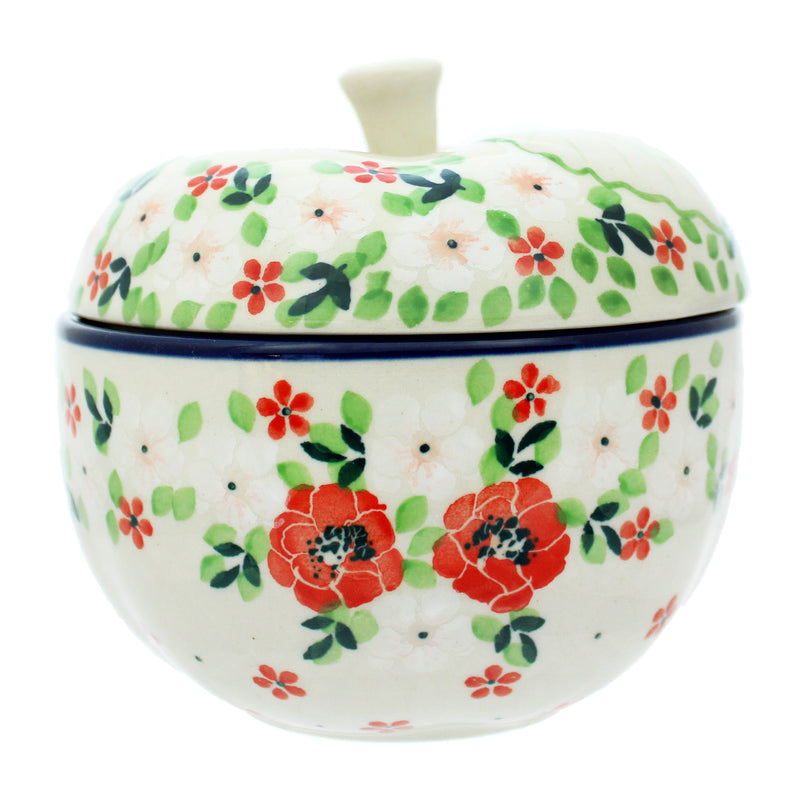 "Polish Pottery 5"" Covered Apple Baker - 034-2352X"