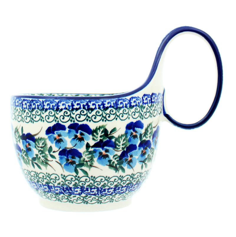 Polish Pottery CA 14 oz. Loop Handled Soup Mug - 2273X