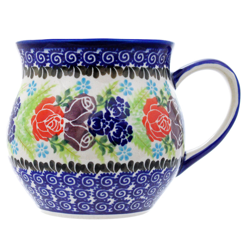 Polish Pottery 14 oz Medium Bell Mug - U234