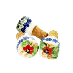 Polish Pottery Wine Cork Unikat - U225