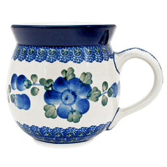 Polish Pottery Handmade 12 oz. Bubble Mug 070-Cornflower
