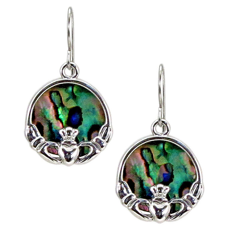Storrs Wild Pearle  Abalone Shell Post Earrings Celtic Cladach