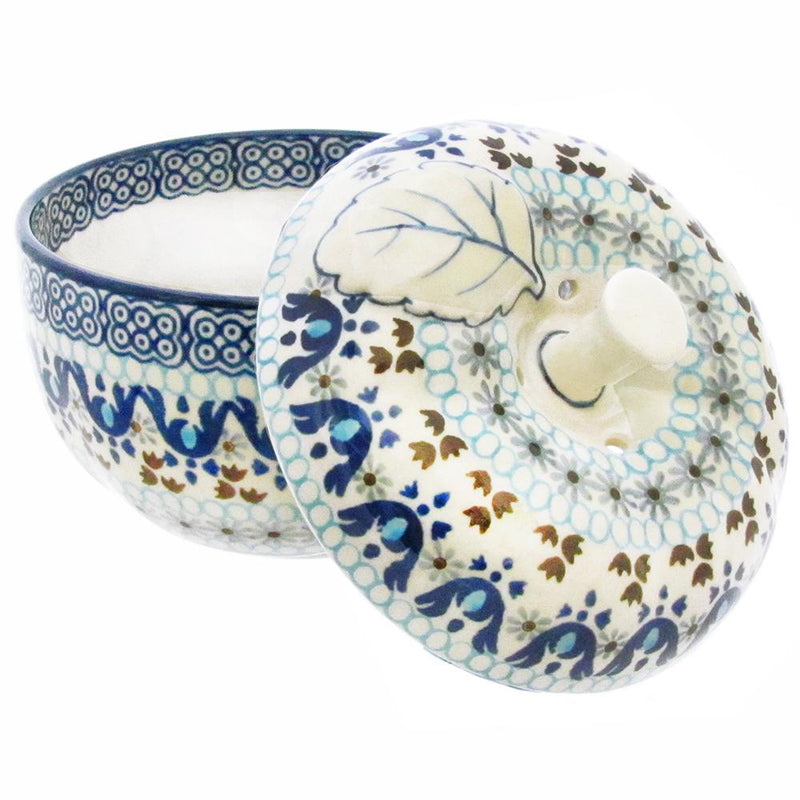 "Polish Pottery 5"" Covered Apple Baker - 034-1026X"