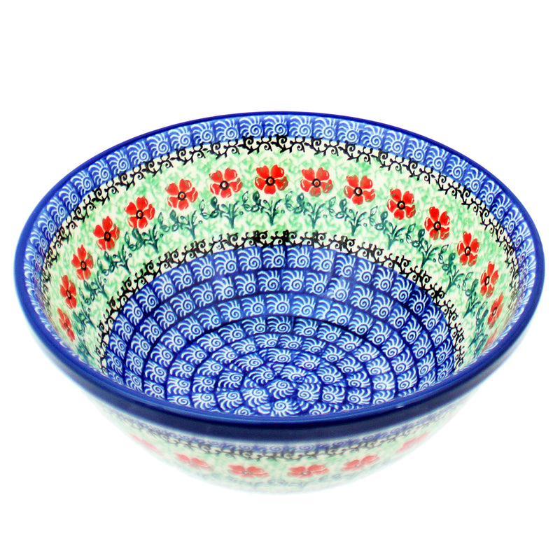 "Polish Pottery CA 8"" Old Kitchen Nesting Bowl - 1916X"