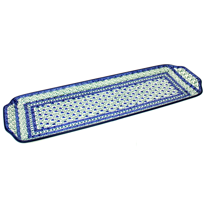 "Polish Pottery CA 16"" Extra Long Serving Tray - 585X"