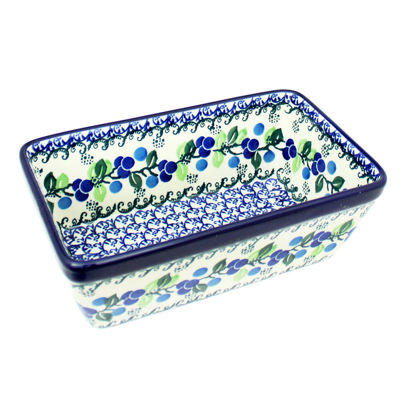 "Polish Pottery CA 8"" Classic Loaf Pan Baker - 1416X"
