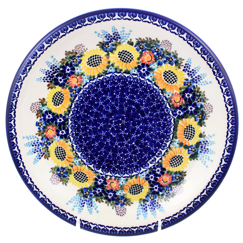 "Polish Pottery 10.25"" Dinner Plate Unikat - E411"
