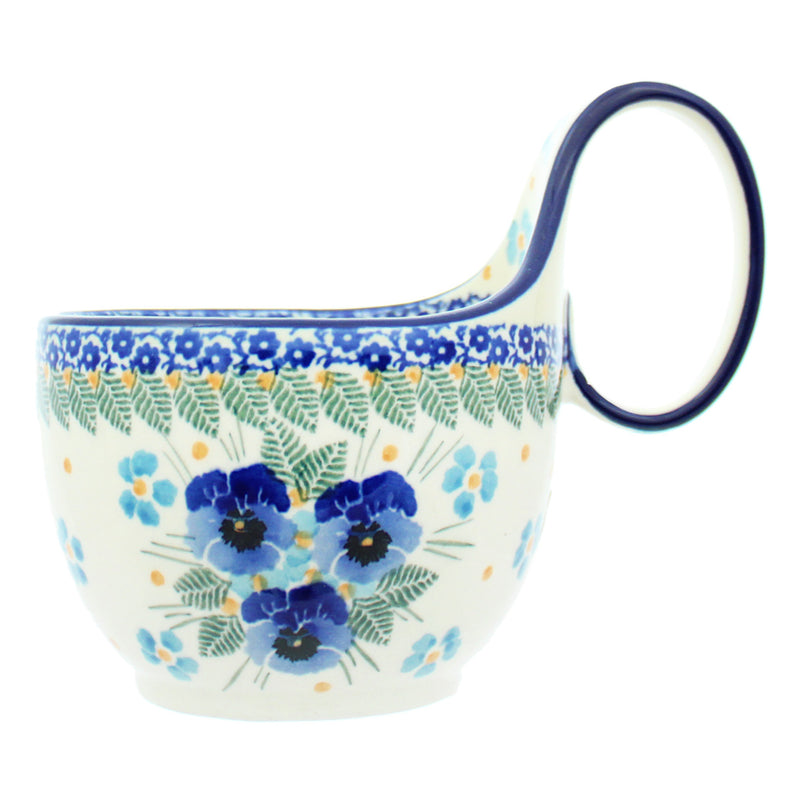 Polish Pottery CA 14 oz. Loop Handled Soup Mug - 2276X