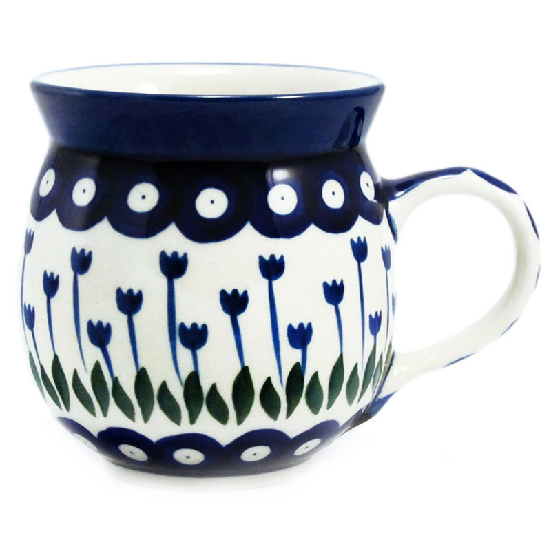 Polish Pottery Handmade 12 oz. Bubble Mug 070-Classic Tulips