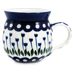 Polish Pottery  12 oz. Bubble Mug 070-Classic Tulips