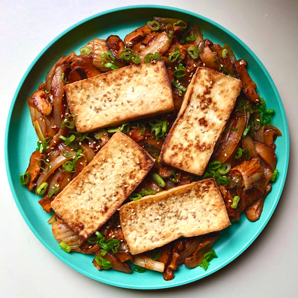 Pan-fried Kimchi with Shiitake and Tofu by Chef Paul Wang